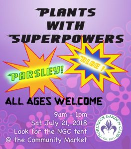 Plants with Super Powers @ Norcross Community Farmers Market