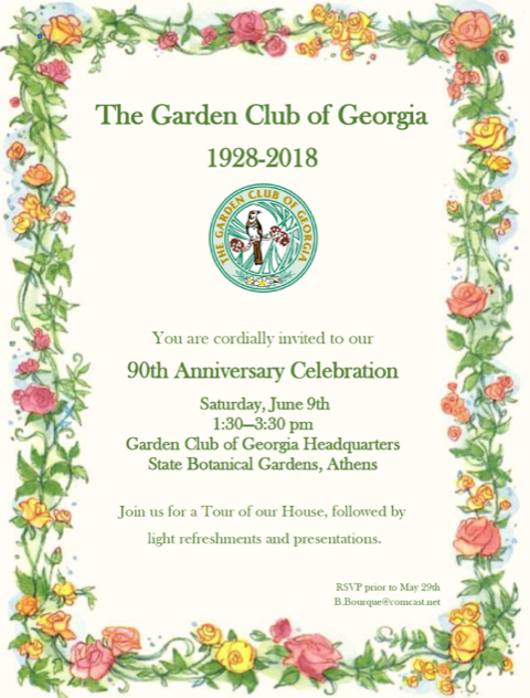 Road Trip: Garden Club of Ga. ~ 90th birthday celebration in Athens @ State Botanical Gardens