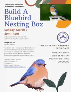 SOLD OUT - Bluebird house building workshop @ Pavillion @ Pinnacle Park