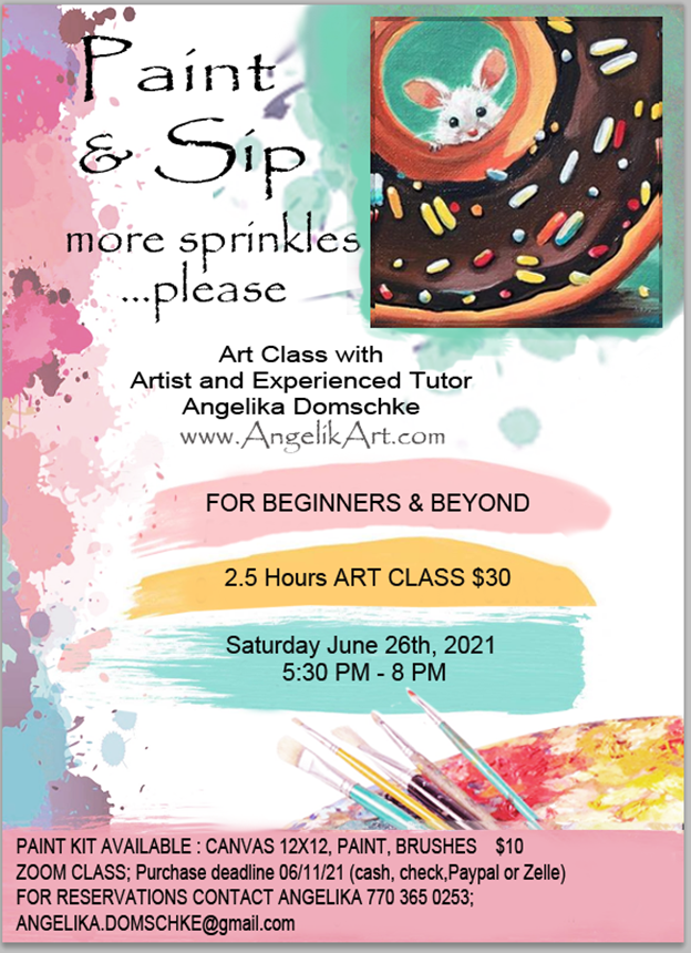 Paint & Sip with member/artist Angelika